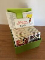 Vintage 1971 Betty Crocker Recipe Card Library Box Avocado Green EUC Complete