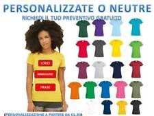 Maglietta Donna Personalizzabile Cotone Manica Corta Fruit Of The Loom maglia
