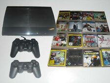 PS3 Super Slim 500GB Konsole + 2 Controller + 5 Spiele Gratis * Playstation 3