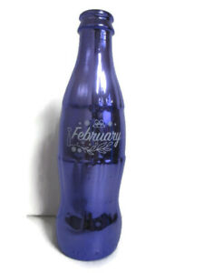 Coca-Cola Birthstone Metallic Contour Bottle February Amethyst Birthday Party
