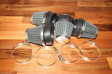 SUZUKI GS1000 GS750 GS1150 GS1100 K&N STYLE POWER CONE AIR FILTERS (SET OF 4)