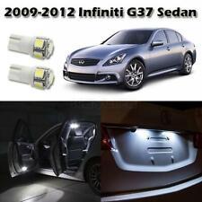 9x White LED Interior Light Package For Infiniti G35 2007-08 G37 Sedan 2009-2013