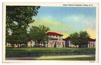 Mid-1900s Olean General Hospital, Olean, NY Postcard