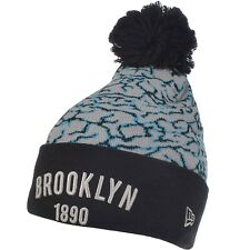 New Era Mens Brooklyn Dodgers MLB Elephant Pop Bobble Beanie Hat - Grey - OSFA