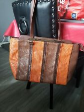 Carpisa Handbag Shopper, Tote Brown/ Orange