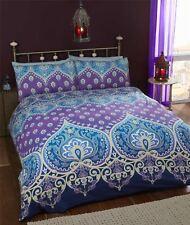 INDIEN henna-style bleu violet Mélange de coton taille SUPER KING 4 pièces