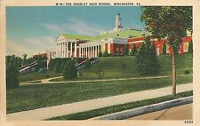Handley High School in Winchester VA Postcard 1941