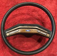 80-86 Ford Pickup Truck Bronco Factory Steering Wheel Woodgrain Cruise Control