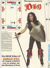 DIO - Ronnie James Dio - Pappaufsteller - Sammlerstück aus den 80ern