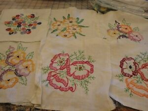 """Set of 18 - 9"""" Embroidered Quilt Blocks - Completed"""