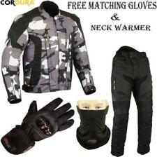 Tute in pelle e altri tessuti grigie da uomo per motociclista