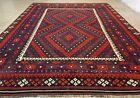 Afghan Hand Knotted Woven Maimana Ghulmori Wool Kilim Kilm Area Rug 10.8 x 8.5