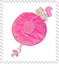 ☺ - Magnifique Rond Doudou Ecureuil Rose Attache Sucette Soft Cuddles Chicco