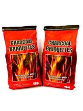 BBQ Briquettes Lumpwood Charcoal Bag 🔥 Barbecue Coal  2 x 4kg bags Fire Pit