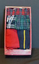 Merona Boxers & Crew Socks  Mens Size Small 3 Piece Set Plaid NIB