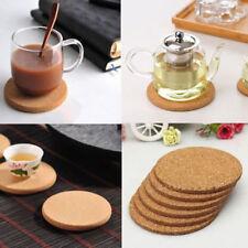 6× Cork Wood Drink Coaster Tea Coffee Cup Mat Pads Table Decor Tableware home ov