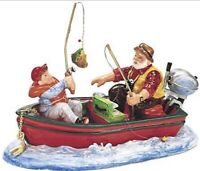 SNOW VILLAGE DEPT 56 CATCH OF THE DAY FISHING BOAT REELING