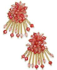 New Kate Spade New York Wrap It Up Coral Beaded Stud Earrings WBRUF713 $68