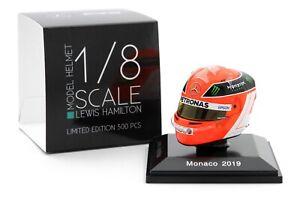 Spark 1/8 Lewis Hamilton Mercedes 2019 Helmet Monaco Grand Prix Niki Lauda F1