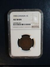 1905 Canada LARGE Cent NGC AU58 BN 1C Coin PRICED TO SELL RIGHT NOW!
