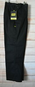 Visitec Fusion Black Utility Pants Mens Workwear Size 112S 44 Black Cargo NEW ,