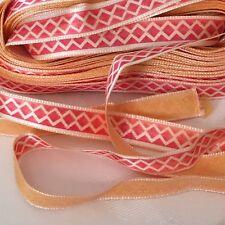 3m x 10mm Peachy Pink Ribbon