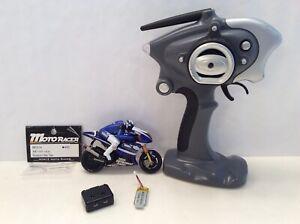 KYOSHO MINI Z MOTO RACER RADIO CONTROL MOTORCYCLE YAMAHA Yzr-m1 BLUE RARE USED