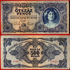 UN BILLET DE BANQUE HONGRIE CIRCULE   Pk N° 117 - 500 Pengo Budapest 1945