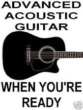 Advanced Acoustic Guitar Lessons. DVD Video Play 4 Real