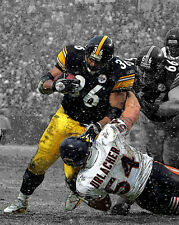 Pittsburgh Steelers JEROME BETTIS vs Brian Urlacher Glossy 8x10 Spotlight Photo