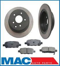 (2) Rear Brake Rotors & Ceramic Pads 31312 CD905 For 02-06 Altima 04-08 Maxima