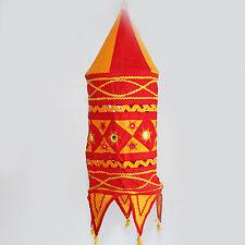 Lampe Hängelampe Stofflampe Lampion Lampenschirm  Partylicht Rot Orange m