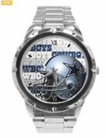 NFL World Champ Dallas Cowboys Mens Watch with a Chrome Stainless Steel band.