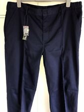 "BNWT Warrior Quality Durable Workwear Trousers 42""W 30""L Navy Blue Pockets NEW"