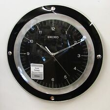 SEIKO CURVED GLASS CRYSTAL; FLOATING BLACK DIAL WITH QUIET SWEEP SECOND HAND