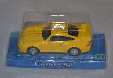 CARARAMA / HONGWELL - PORSCHE 911 GT2 - YELLOW - 1:72 SCALE MODEL SPORTS CAR