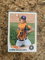 Lance McCullers Signed 2013 Topps Pro Debut Rc Auto Houston Astros