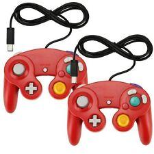 Varios 2X Clásico con Cable Mando para Juegos para Nintendo Wii Gamecube Rojo 0Z