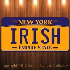 Irish New York Aluminum Vanity License Plate New
