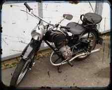 Adler M 125 02 A4 Metal Sign Motorbike Vintage Aged