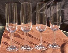 4 Rosenthal CUPOLA Studio Line Champagne Flutes Mario Bellini design -  PERFECT!