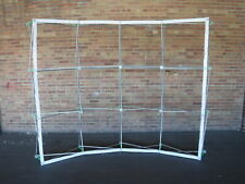 Pop Up Curved 10 Trade Show Booth Display Frame With Velcro Led Lights Hard Case