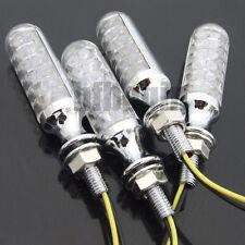 4X 12 LED Moto Ampoules Signal Lampe Clignotant Feu Indicateur Eclairage Chrome