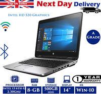 "HP ProBook 640 G2 14"" Laptop Intel 6th-Gen i3 2.30Ghz 8GB RAM 500GB HDD Win 10"
