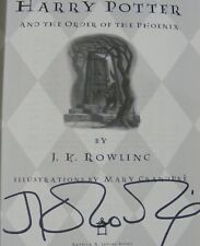 JK Rowling Signed Harry Potter and The Order of the Phoenix Book 1st Edition