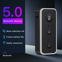 Wireless Bluetooth 5.0 Receiver Handsfree 3.5mm AUX Audio Home Car Adapter New