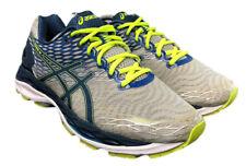 Asics Gel Nimbus 18 T600N Gray Blue Lime Running Gym Shoes Mens 10 Fast Ship