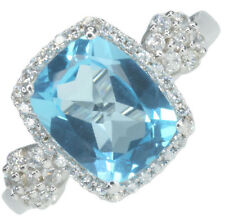 Cubic Zirconia Natural Topaz Fine Rings