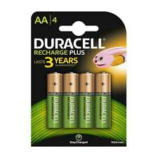 4 x Duracell AA 1300 mAh PRE/ STAY CHARGE Rechargeable Batteries NiMH HR06 phone
