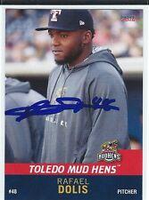 Rafael Dolis Signed Toledo Mud Hens 2015 Choice Card Detroit Tigers